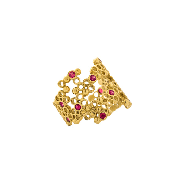 Alicia Ring, Gold/Pink