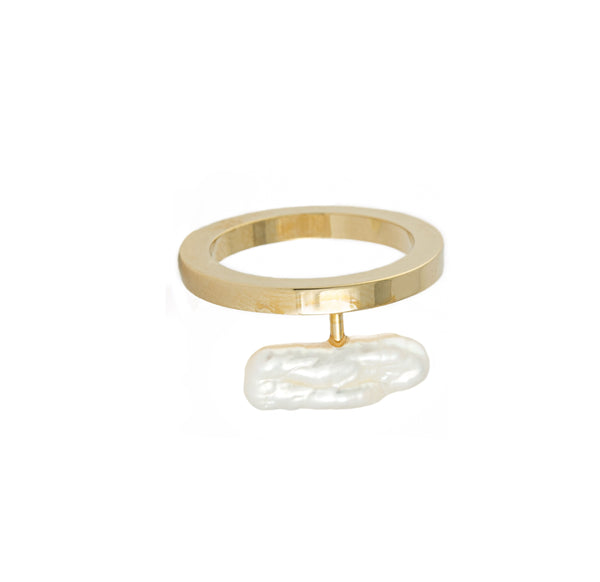 Alilia Ring, Gold/Pearl