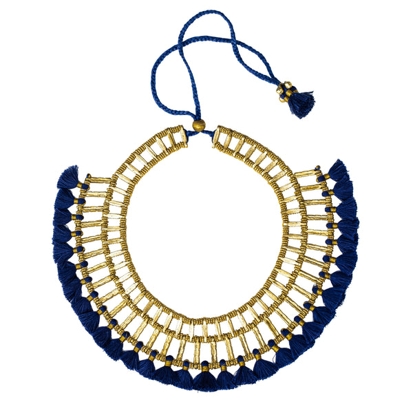 Amiyah Necklace, Blue