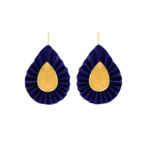 Aurelia Earrings, Blue