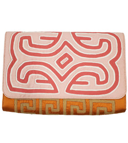 Carie Clutch, Pink/Orange