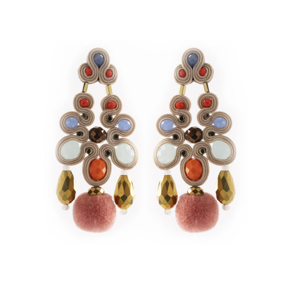 Chaya Earrings, Multicolor