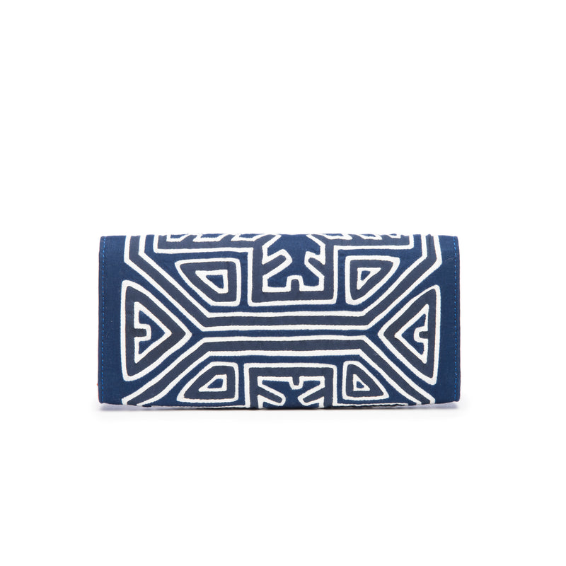 Luciana Clutch, Blue White