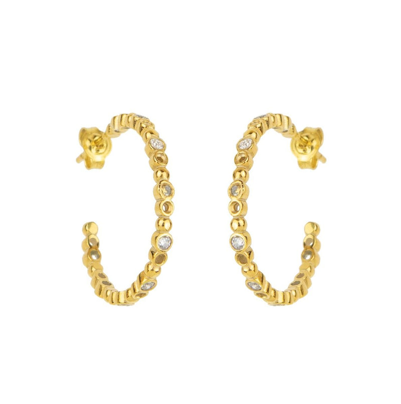 Brioni Small Earring, Gold/Clear