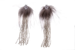 Isabella Earrings, Gray