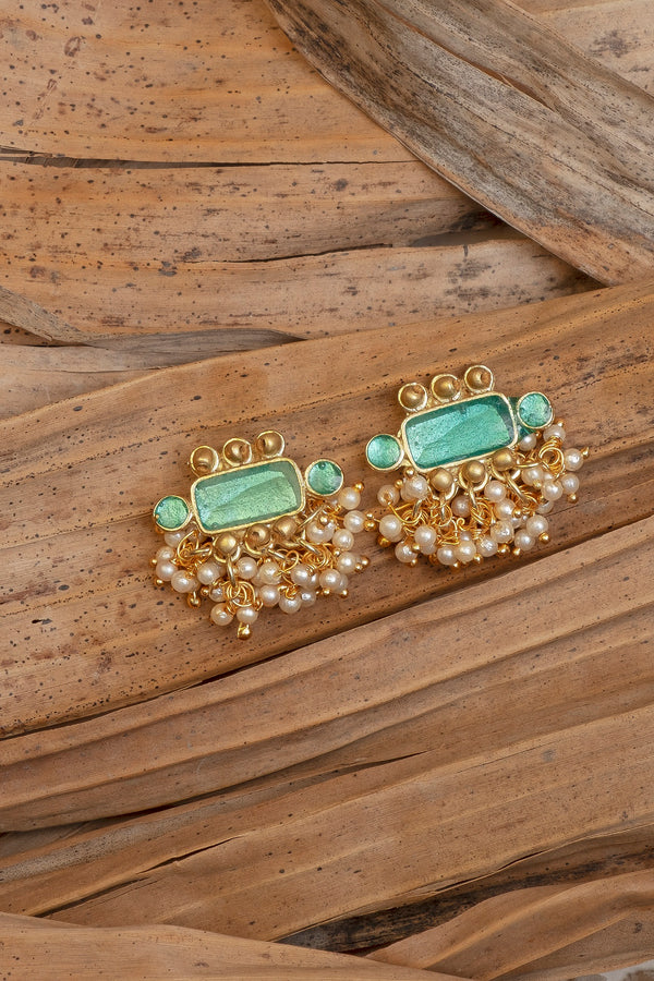 Kat Earrings, Turquoise