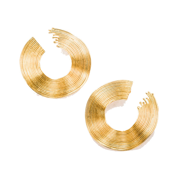 Crystal Earring, Gold