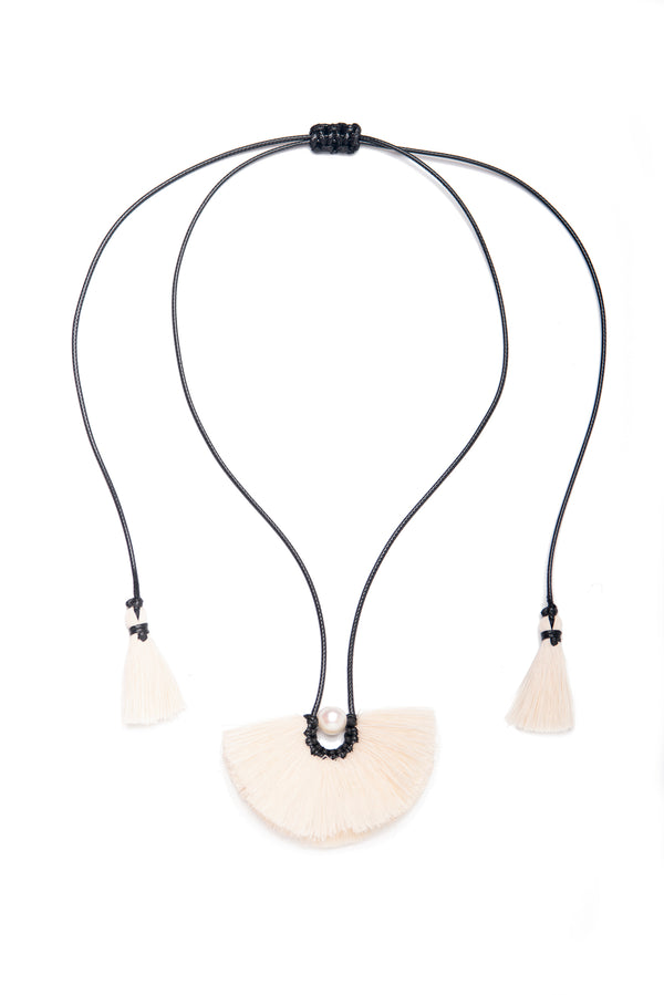 Olivia Necklace, White