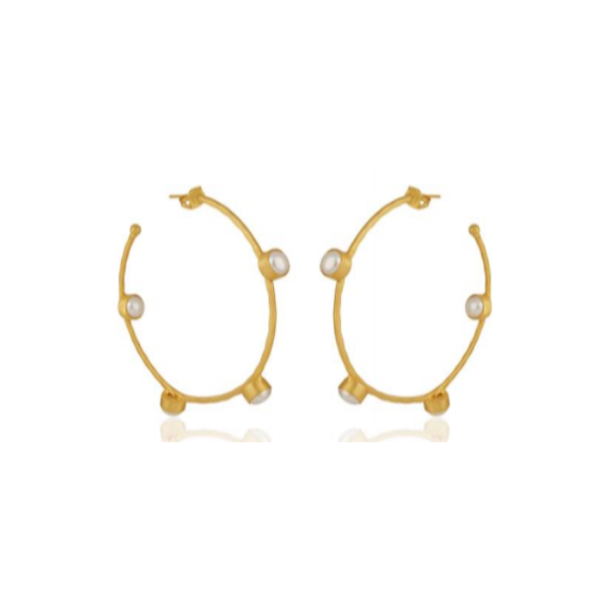 Gwyneth Earrings, Gold