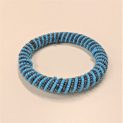 Ari Bracelet, Light Blue/Gunmetal