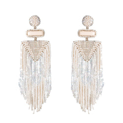Isabel Earrings, Ivory