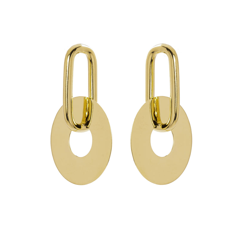 Janet Earrings, Gold
