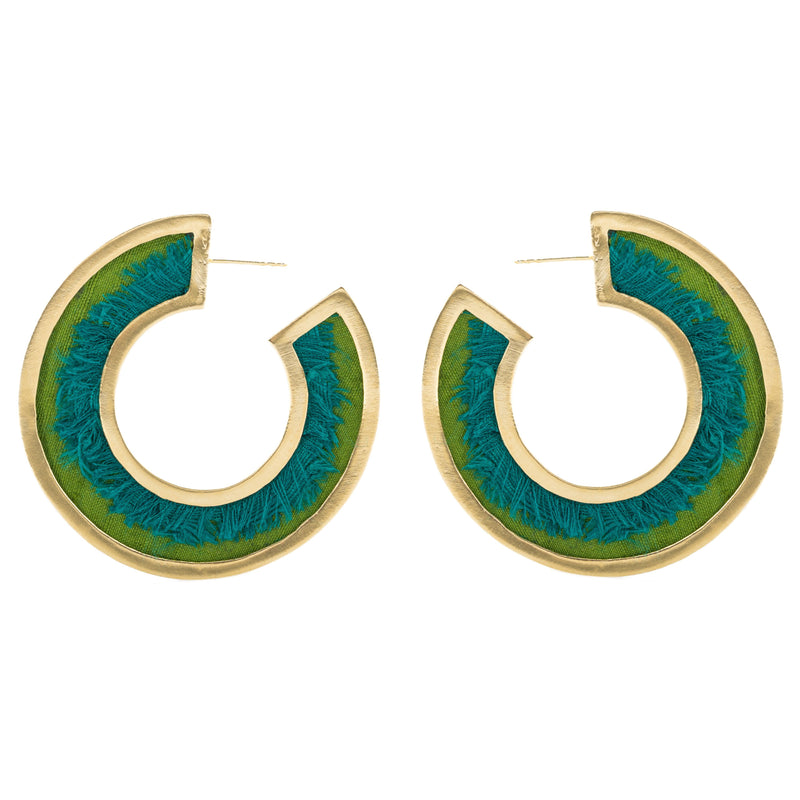 Jennifer Earrings, Green