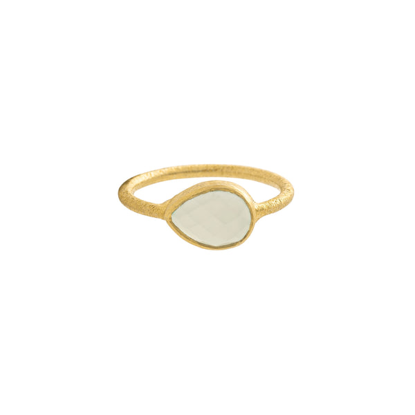 Kaia Ring, Clear/Gold