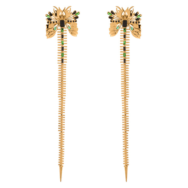 Luella Earrings, Gold
