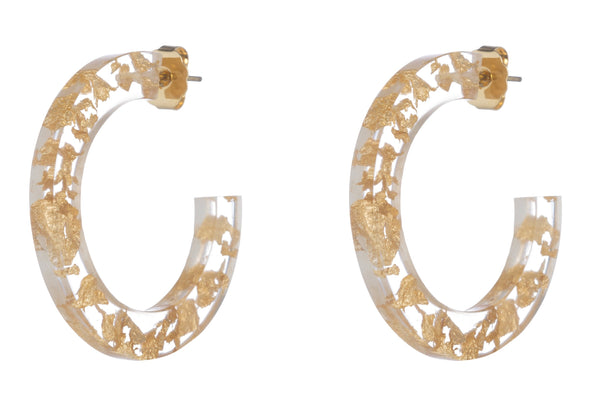Maddie Earring, Gold/Clear Small