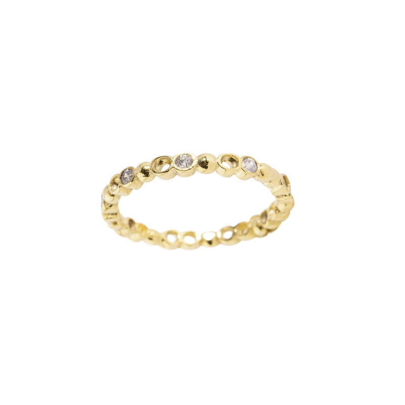 Mahalia Ring, Gold/Clear