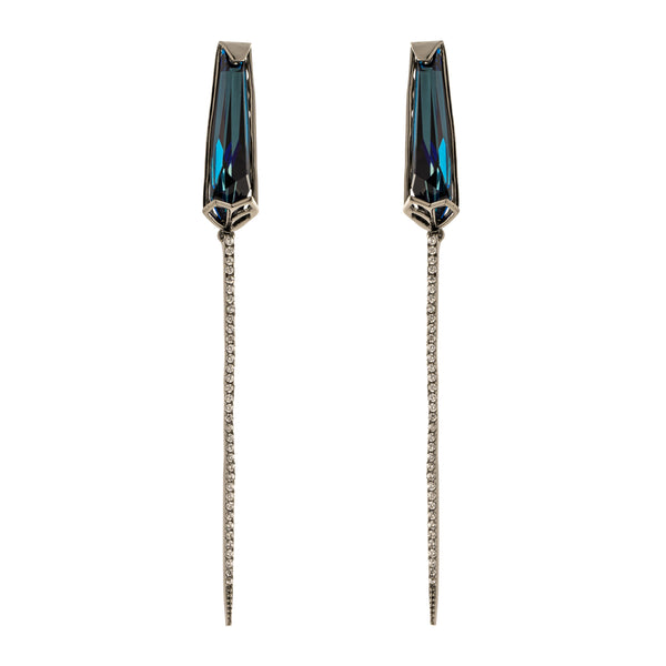 Malia Earrings, Blue