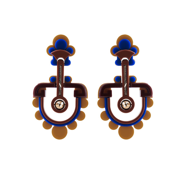 Marleigh Earrings, Blue