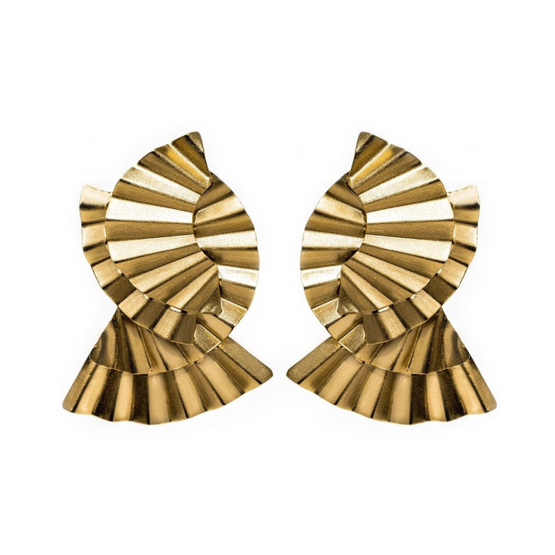 Mina Earrings, Gold
