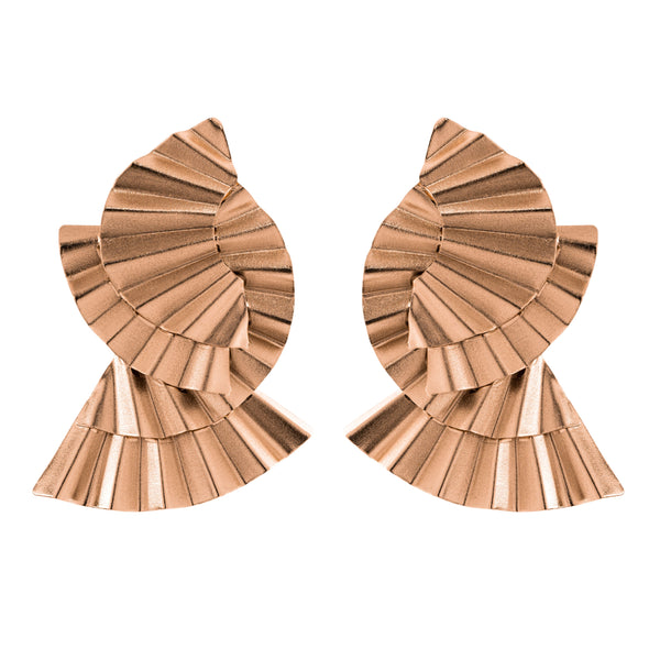 Mina Earrings, Rose Gold