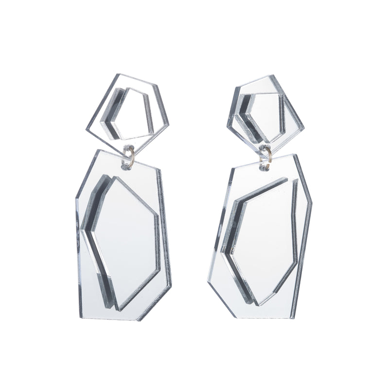 Naomi Earrings, Silver