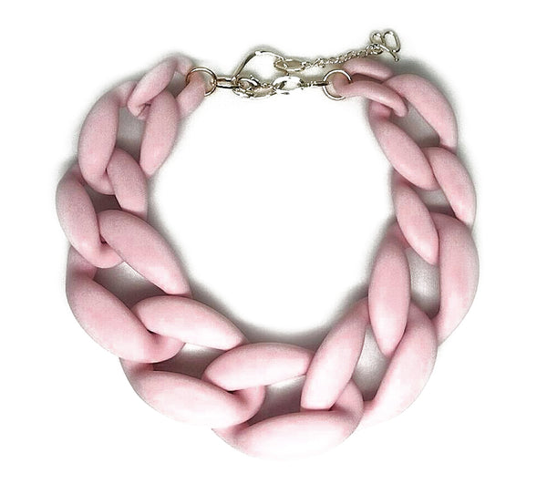 Katerina Necklace, Matte Pink