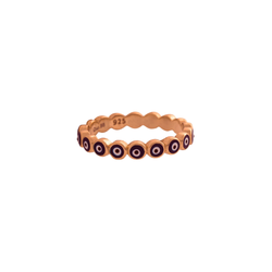 Nina Ring, Rose Gold/Blue