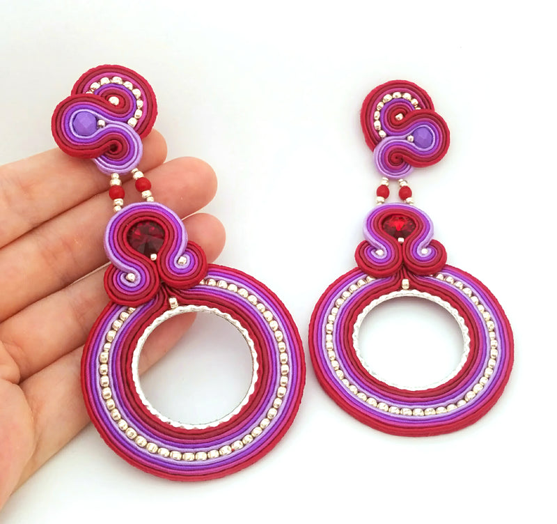 Celeste Earring, Purple