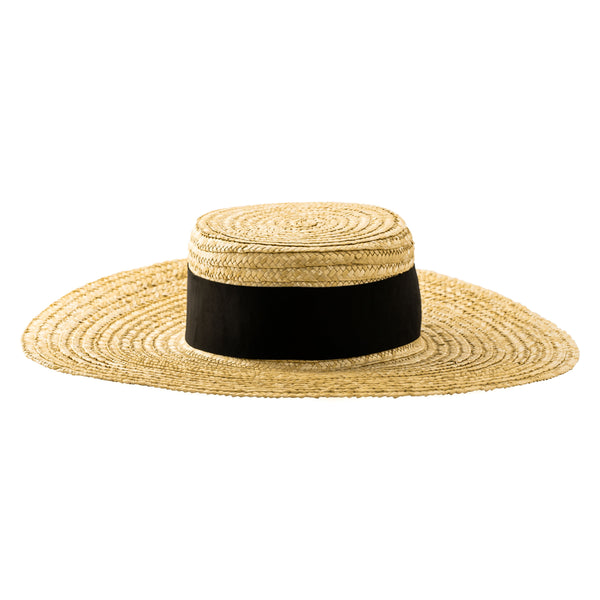 Paulina Hat, Natural/Black