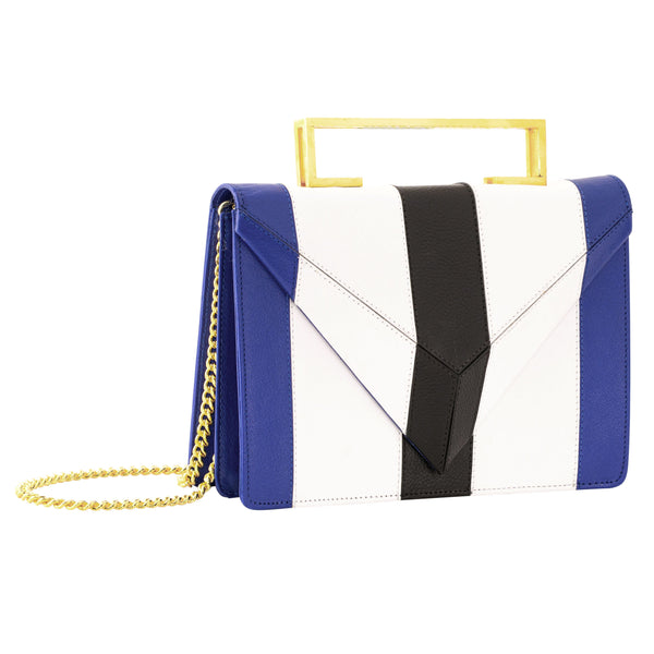 Sasha Clutch, Blue/Black