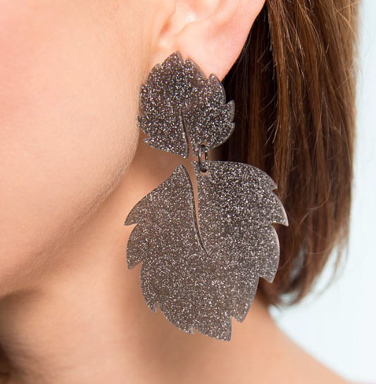 Isla Earrings, Gray