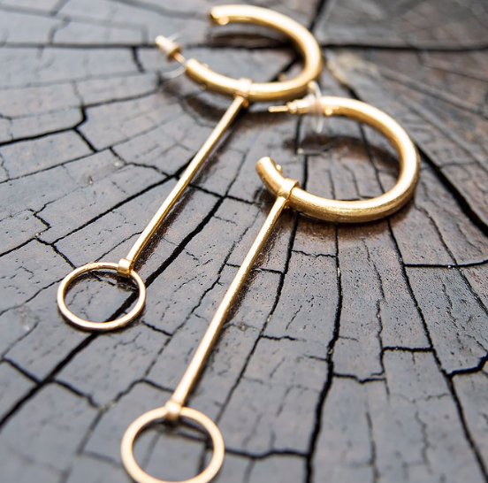 Cataleya Earring, Gold