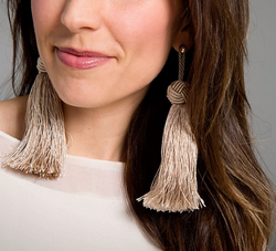 Annabel Earrings, Beige
