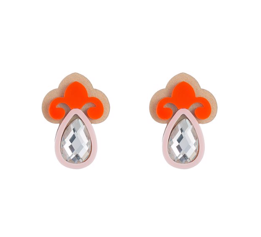 Jada Earrings, Coral