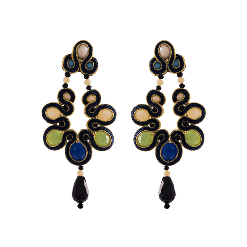 Tinley Earrings, Blue