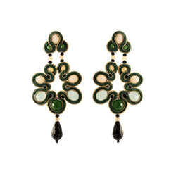 Tinley Earrings, Green