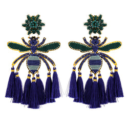 Kira Earrings, Blue