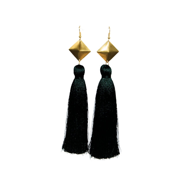 Turner Earrings, Black