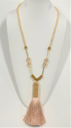 Malani Necklace, Beige/Pink