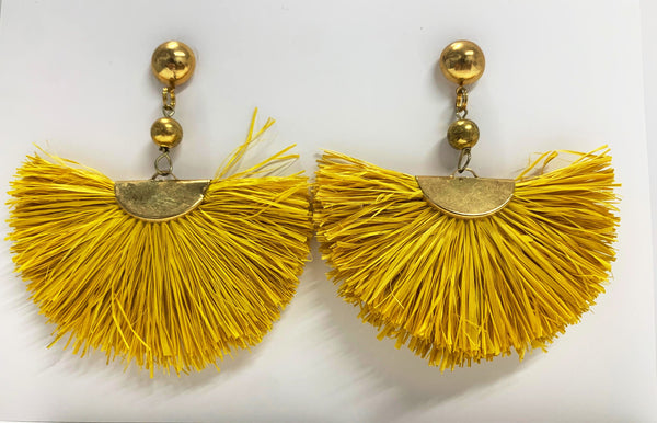 Kaylani Earrings, Yellow