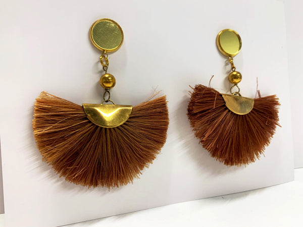 Kaylani Earrings, Brown
