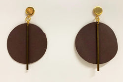 Goldie Earrings, Mauve