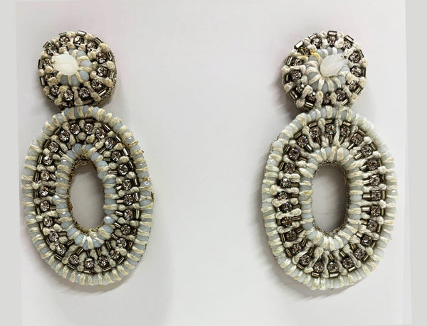 Reign Earrings, White