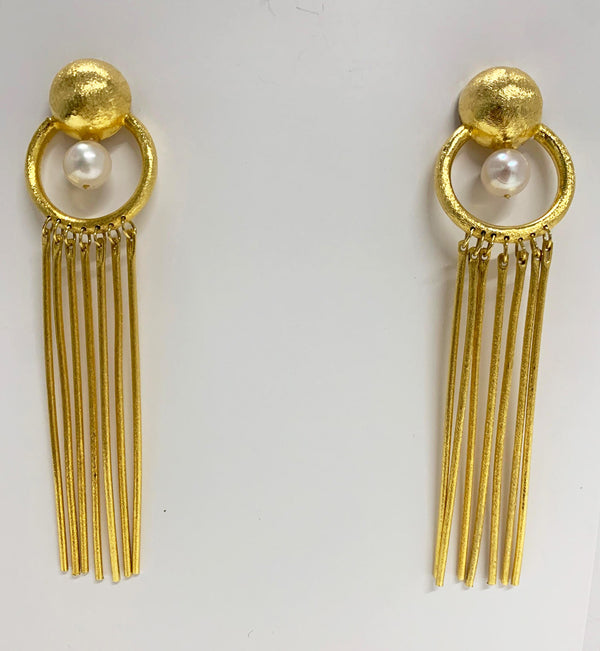 Ines Earrings, Gold