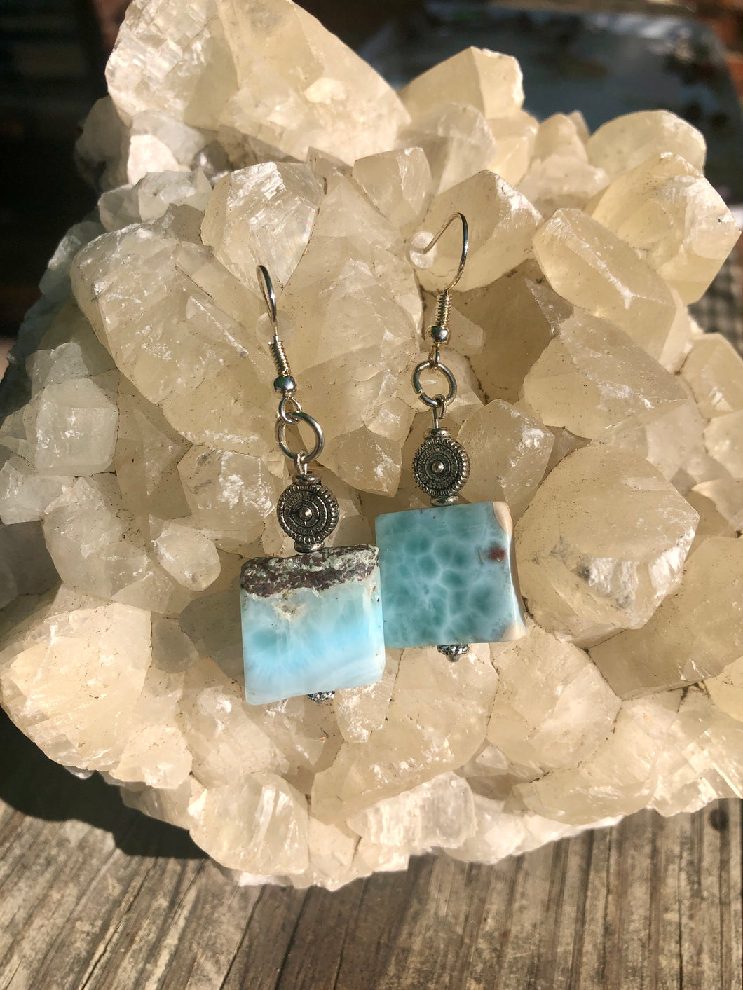 Beautiful Larimar Earrings