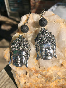 Lava Stone Kaun Yin Earrings