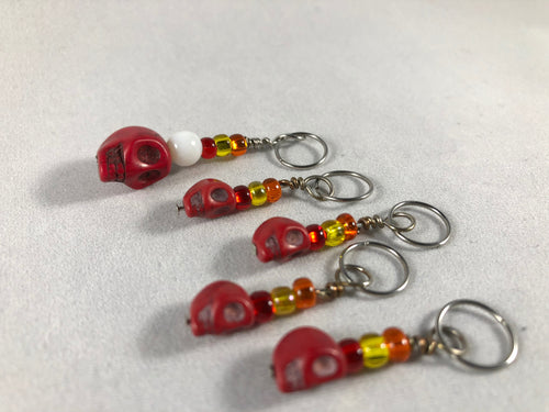 Skull Stitch Markers - Multiple Choices