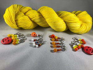 Pumpkinhead Stitch Markers - Multiple Choices