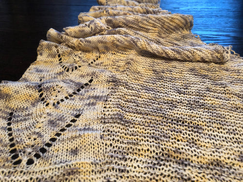 Power Up Edged Shawl Pattern - digital download